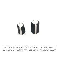 rogan series p knobs, black/white soft touch
