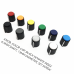 knob, color cap, black w/white index, 6.4mm shaft, 13mm diameter, set screw (KNBCPNB13MASTER) by synthcube.com