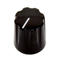 davies 1900 clone knob, abs plastic, 6.4mm solid shaft