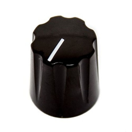 davies 1900 clone knob, abs plastic, 6.4mm solid shaft (KNBCPBUA) by synthcube.com