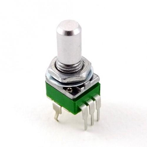 alpha 9mm vertical potentiometer 15mm round 6.35mm shaft pc pin