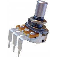 potentiometer, taiwan alpha 16mm rt angle pc pin round shaft