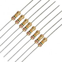 resistors, carbon film 5% tolerance 1/4W through-hole
