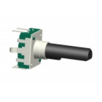 12mm vertical encoder with push-on switch