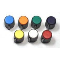 knob, color cap, black w/white index, 6.4mm shaft, 13mm diameter, set screw