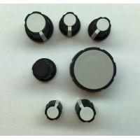 rogan series p knobs, black/white soft touch