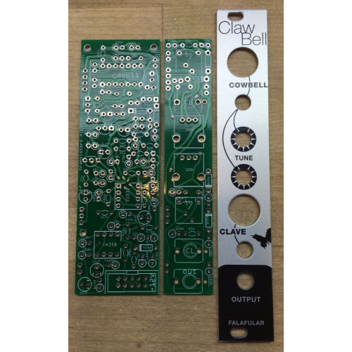falafulars clawbell, panel+pcb, 4hp