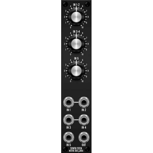 MOTM 890 uMixer, assembled