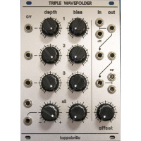 toppobrillo triple wavefolder, manhattan analog version
