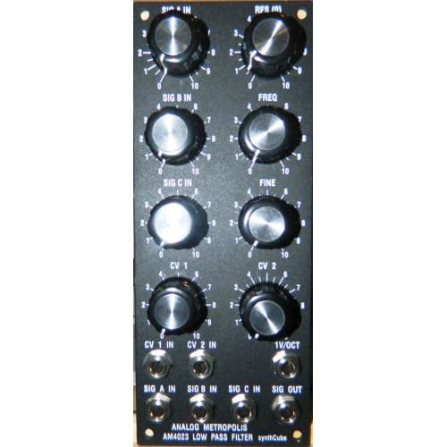 am4023 lo pass filter, panel, motm, 2U