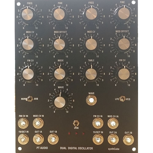 pt audio dual digital oscillator, MOTM, 4U (ASMPTDDOSMOTM4U) by synthcube.com