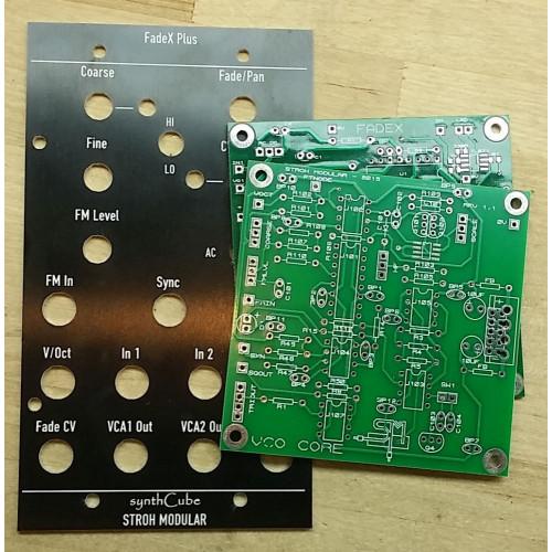stroh modular fadex+. panel+pcb, frac 2U (BNDDSFADXFRAC2U) by synthcube.com