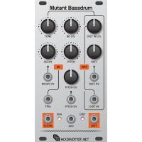 hexinverter mutant bassdrum, pcb+panel