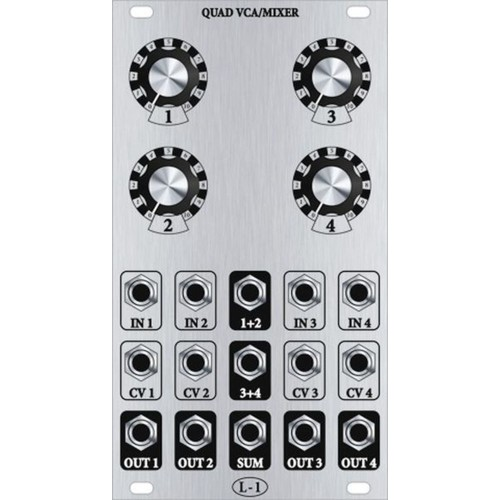 l-1 quad vca, pcb+panel+smt bundle, 14hp