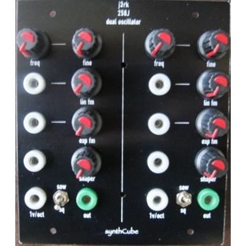 j3rk 258j dual oscillator, frac format, panel only, 3u wide (PANDS258JFRAC2X) by synthcube.com