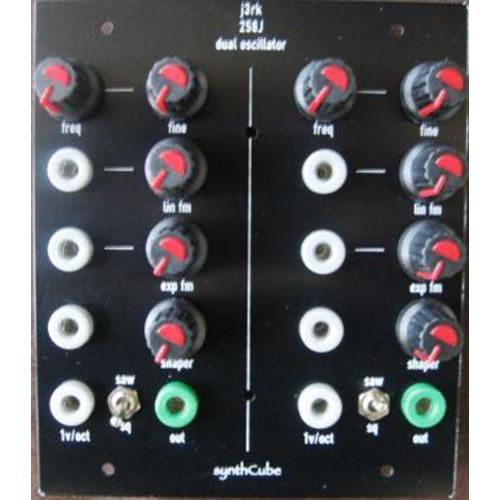 j3rk 258j dual oscillator, frac banana format, panel kit