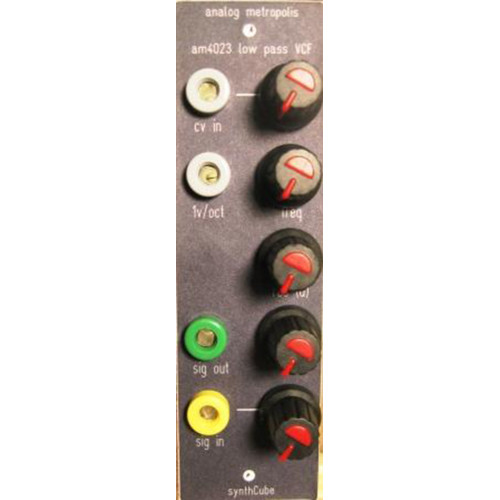analog metropolis AM4023 lp filter, panel ONLY, frac 1.5  wide (PANAM4023FRAC1U) by synthcube.com