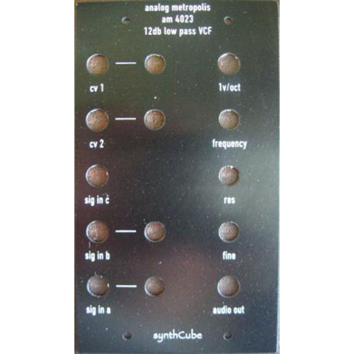 analog metropolis AM4023 lp filter, panel, frac 2u wide (PANAM4023FRAC2U) by synthcube.com