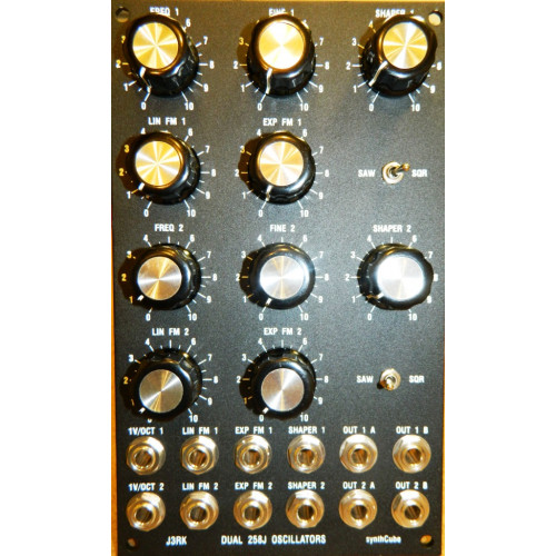 j3rk dual 258j oscillators, panel only, motm, 3U (PANDS258KMOTM3U) by synthcube.com