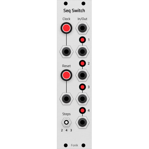 fonitronik seq switch, grayscale euro panel (PANFNSQSWEGRY01) by synthcube.com
