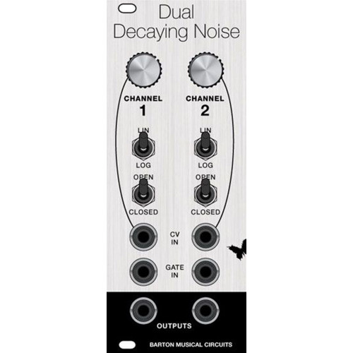 barton dual decaying noise, panel, euro, 10hp (PANMBDDNXECLK10) by synthcube.com