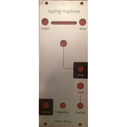 turing machine, panel, grayscale euro, 10hp (PANMTTURMEGRY10) by synthcube.com