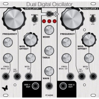 pt audio dual digital oscillator, panel only, euro, 26hp