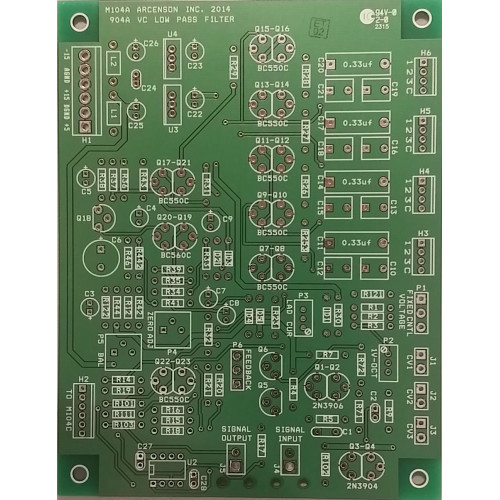 arcenson 904a-b-c filter, 3 pcb set