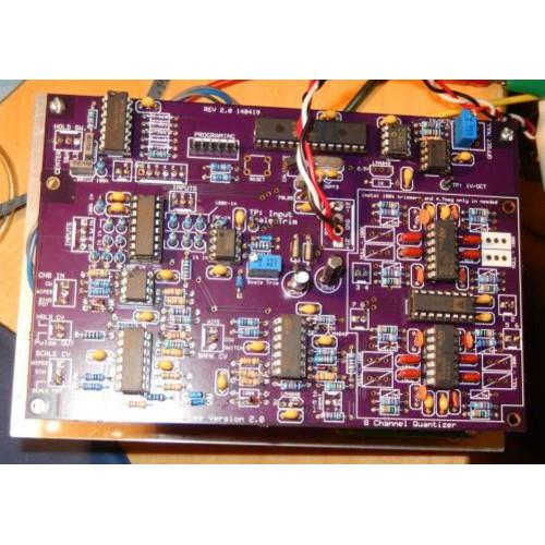 clee 8 channel quantizer, 2 pcbs+PIC (PCBCLQUNTNONE01) by synthcube.com