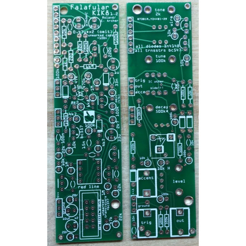 falafular kik-8, 2-pcb set (PCBFAKIK8NONE02) by synthcube.com