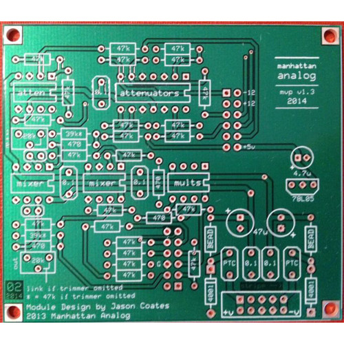 manhattan analog MVP, PCB only (PCBMAMVPRNONE01) by synthcube.com