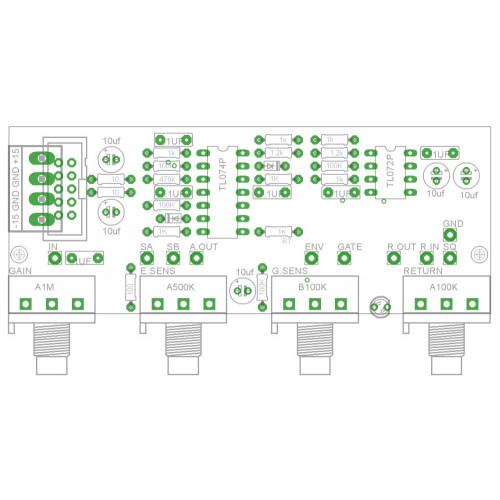 barton guitar input, pcb (PCBMBGUITNONE01) by synthcube.com
