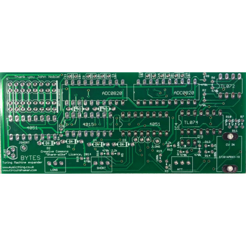 turing machine bytes expander, pcb (PCBMTTBYTNONE01) by synthcube.com