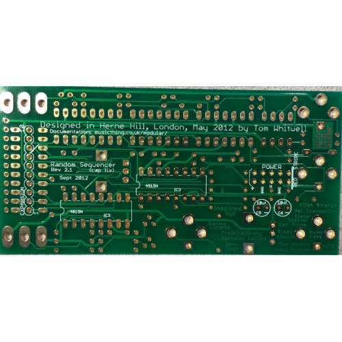 music thing turing machine, main pcb (PCBMTTTRNNONE01) by synthcube.com