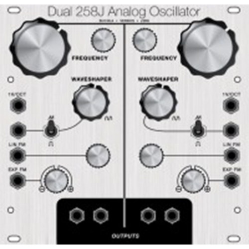 j3rk dual 258j oscillator, clarke68 panel, euro, 26hp