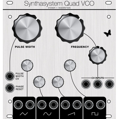 synthasystem quad vco, euro 24hp (ASMSSQVCOECLK24) by synthcube.com