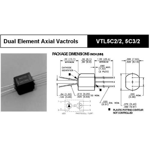 vactrol, vtl5c2, 2 pcs